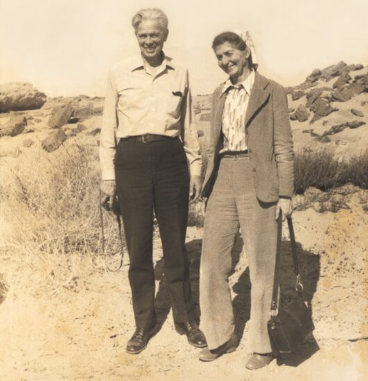 Gilbert and Anne White in Egypt in 1977 studying the impacts of the Aswan Dam